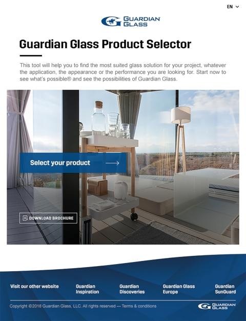 20190101grdpr164 guardian glass product selector